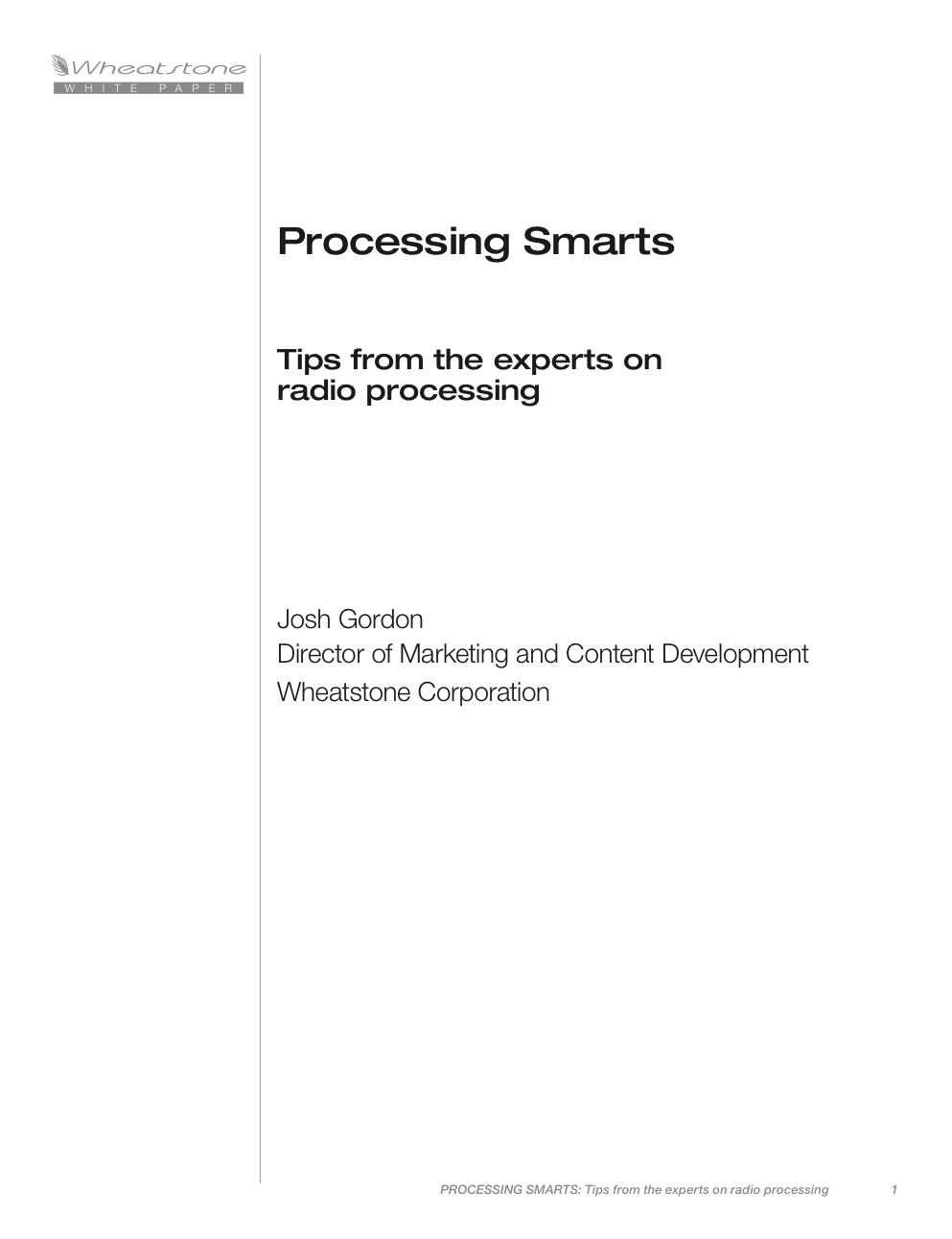 Processing Smarts: Tips from the Experts White Paper